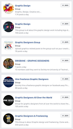 Graphic Designers Facebook Groups