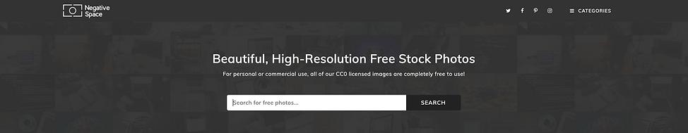 Negative Space Stock Photo website revie