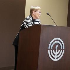 Outgoing Co-President Sheila Adler