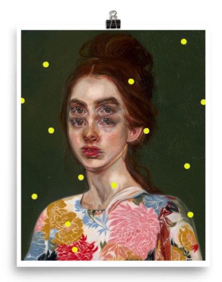 "Open Print- Yellow Alternate 16x20"" Until Dusk"