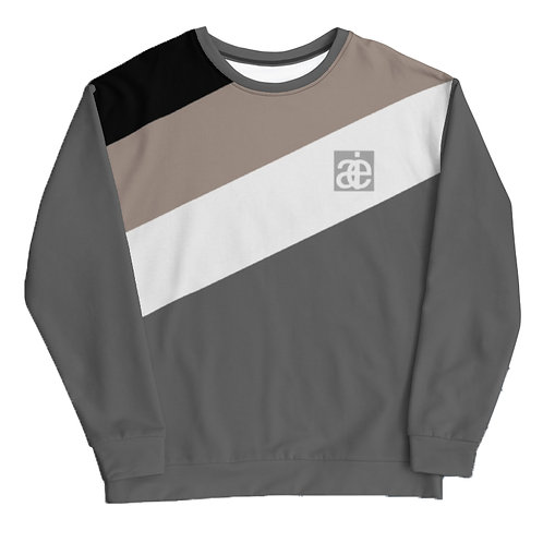 AIE logo unisex sweatshirt. Grey & sand.