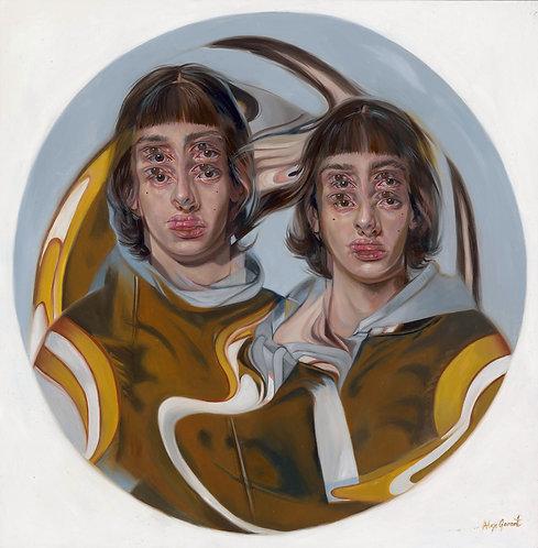 MARBLE GOLDEN WARRIORS - Original Painting