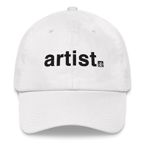 artist. Dad hat. White.
