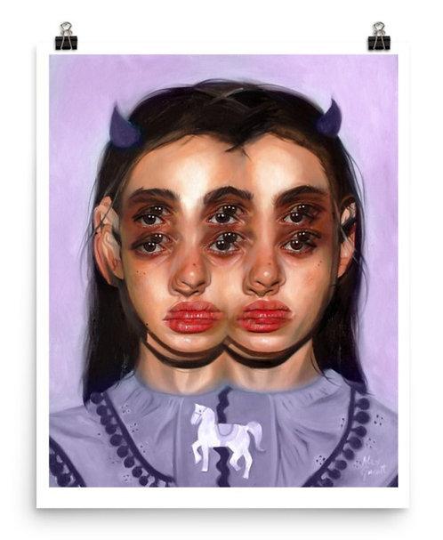 "Limited Giclée Art Print 16x20"" | Carousel - Purple Alternate"