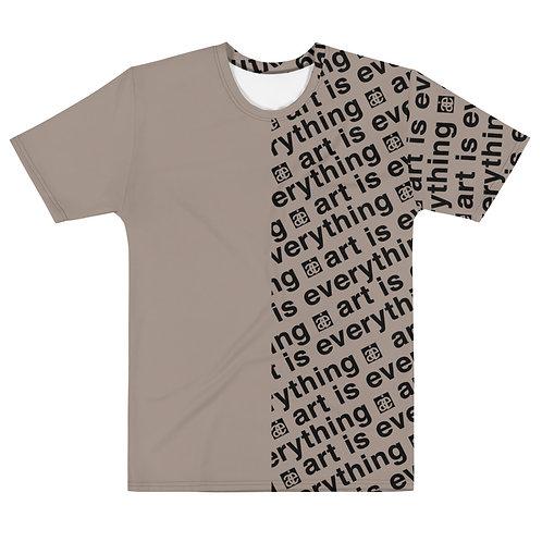 Half & half. Unisex tshirt. Sand & black.