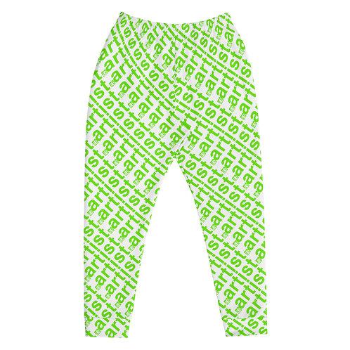 artist. Unisex joggers. White & green.