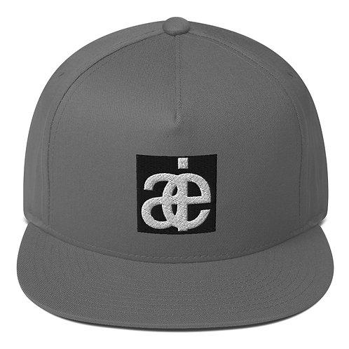 AIE logo flat hat. Grey.