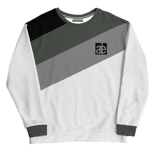 AIE logo unisex sweatshirt. White & Green.