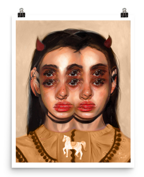 "Limited & Signed Art Print 16x20"" | Carousel - Tan Alternate"