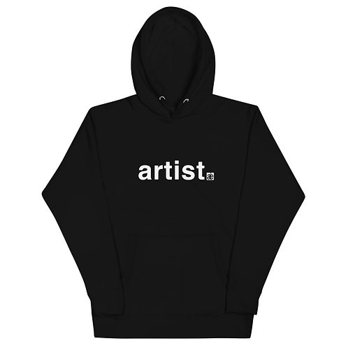 artist. Unisex hoodie. Black & white.