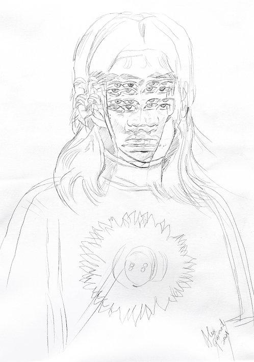 BENEATH THE EMPTINESS- Original Drawing