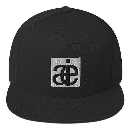 AIE logo flat hat. Black.