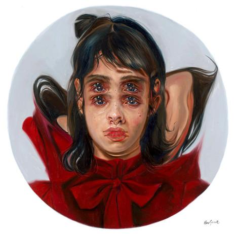 Marble- Crimson