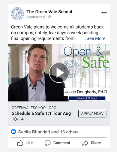 private school Facebook advertising - Th