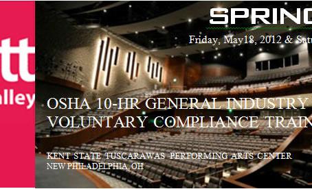 OSHA 10-HR GENERAL INDUSTRY VOLUNTARY COMPLIANCE TRAINING