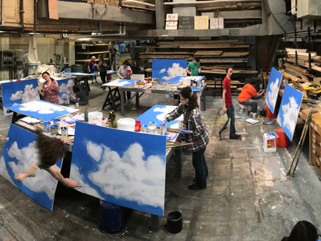 Bollinger & Downs Lead Scenic Painting Workshop