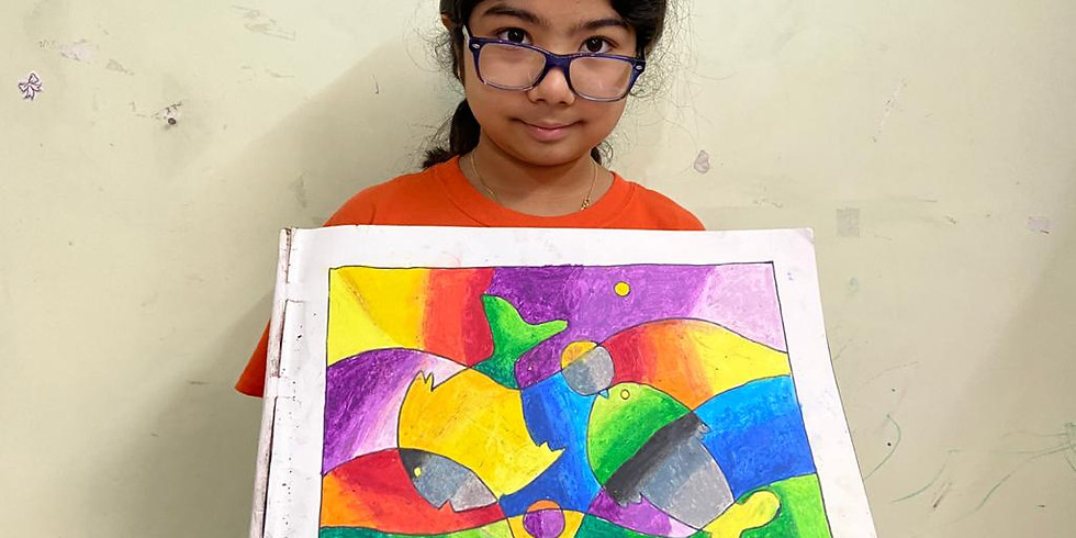 Online Kids Drawing and Painting Workshop Age 5 yrs to 8 Yrs