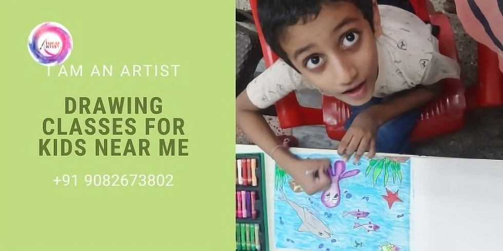 Drawing Classes for Kids near me India Age 5 years to 8 years workshop for kids