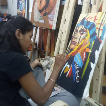 canvas painting classes for Adult in Mum