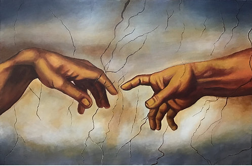 The Creation of Adam Canvas Hand Painted