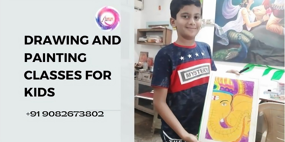 Drawing and Painting Classes for Kids India Age 9 years to 12 years workshop for kids