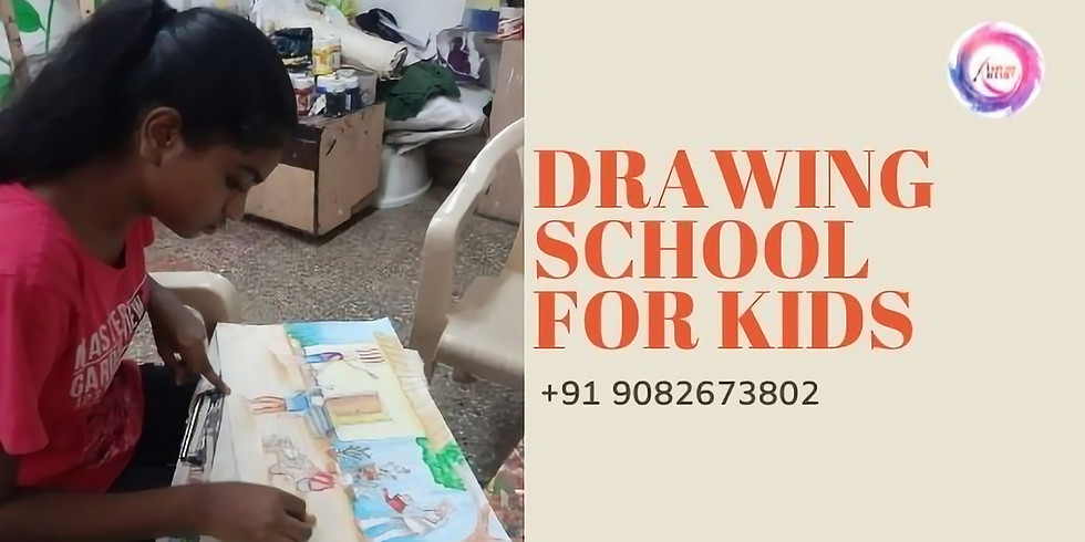 Drawing school for Kids India Age 9 years to 12 years workshop for kids