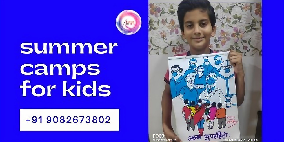 Summer Camps for Kids India Age 9 years to 12 years workshop for kids