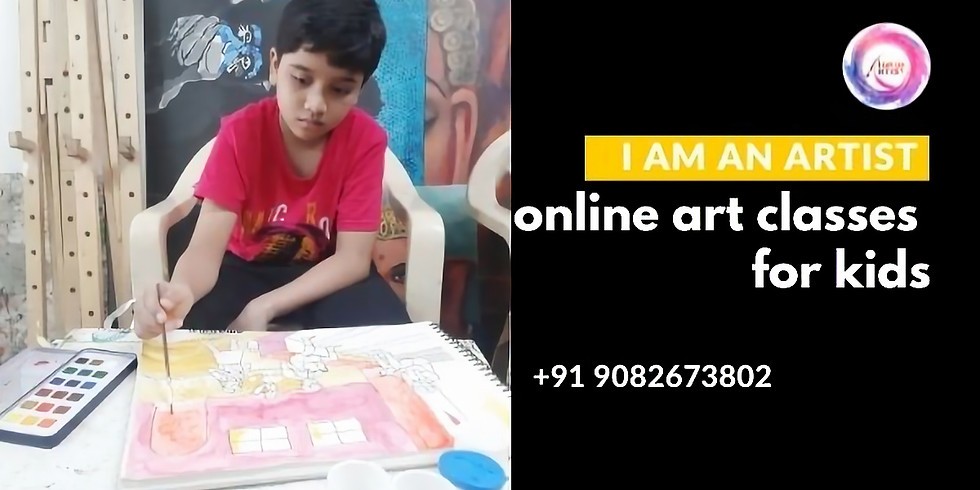 Online Art Classes for Kids India Age 9 years to 12 years workshop for kids
