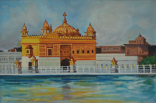 copy of golden temple -  Sri Harmandir Sahib -  Darbar Sahib amritsar art on  Ca