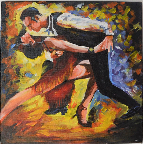 couple dancing art on  Canvas Hand Painted