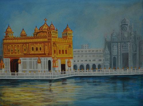 golden temple painting Sri Harmandir Sahib