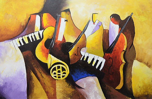 colorful musical instrument artwork