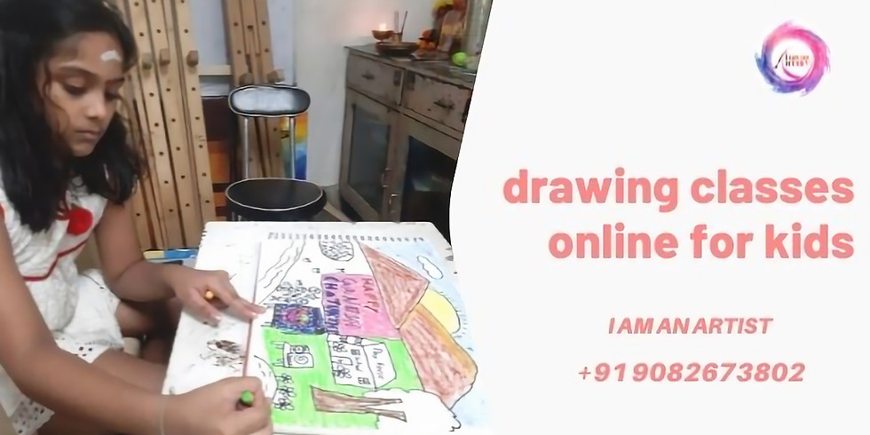 Drawing Classes online for Kids India Age 5 years to 8 years workshop for kids