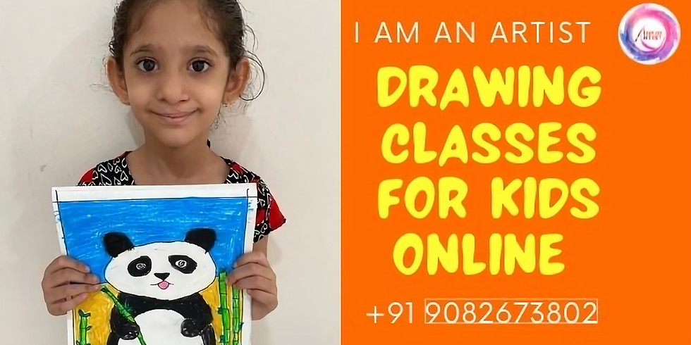 Drawing Classes for Kids online India Age 5 years to 8 years workshop for kids