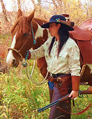 cowgirl | saddle | mare