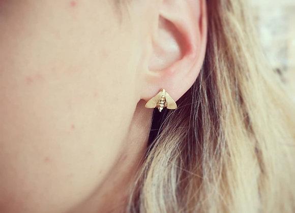 Nattfly mini örhängen 18 k