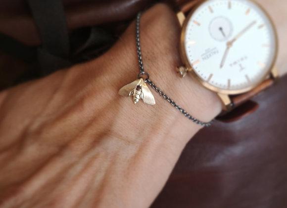Nattfly mini armband 18k + silver