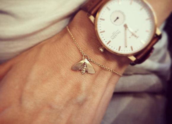 Nattfly mini armband 18k