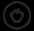 Icono de una Manzana Hidroponica