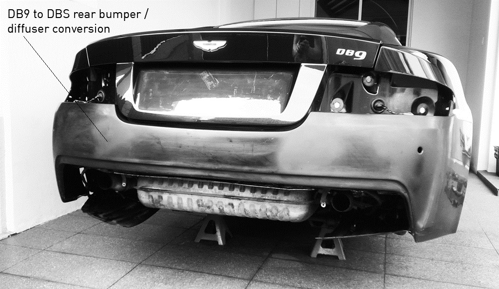 DB9 to DBS rear diffuser