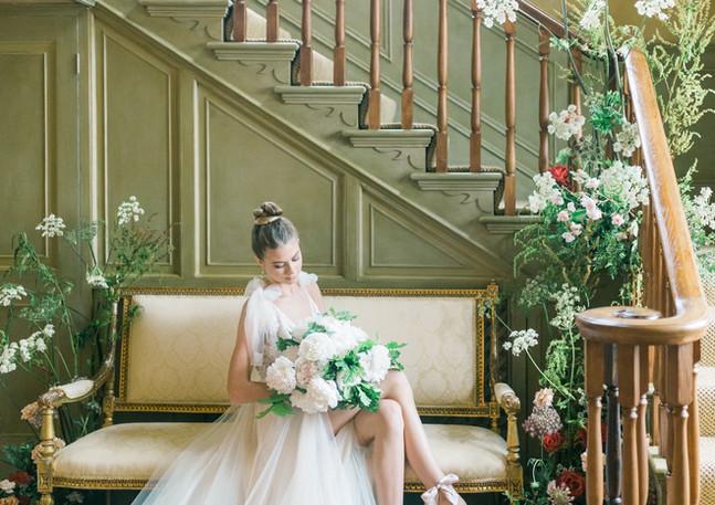 Krista bride d:stairs.JPG