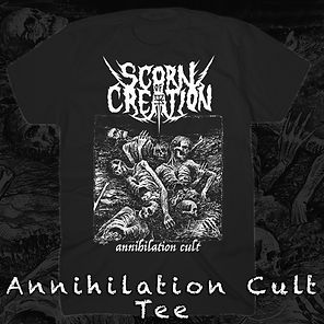 Scorn Of Creation Annihilation Cult Tee