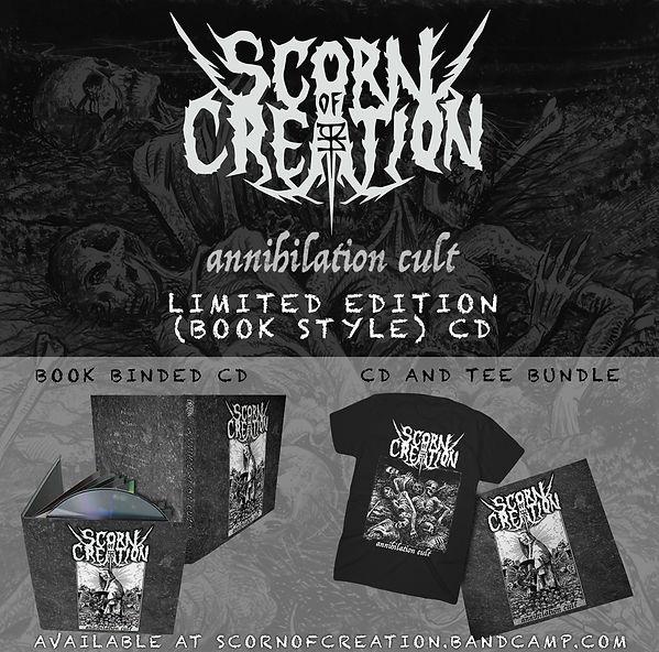 Scorn Of Creation Annihilation Cult Physical Merch