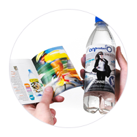 Place your magazine on a 500ml bottle of water with up to 32 pages