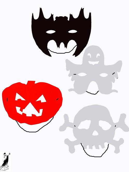 Antifaz Cartulina Halloween