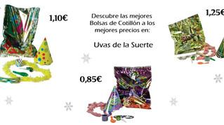 """BOLSAS DE COTILLÓN """"UVAS DE LA SUERTE"""""""