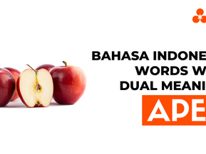 """Bahasa Indonesia Words With Dual Meaning: """"Apel"""""""