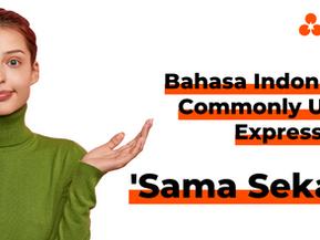 "Bahasa Indonesia Commonly Used Expressions - ""Sama Sekali"""