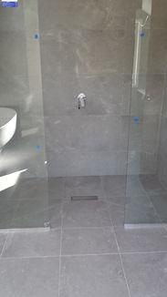 shower cut tiles