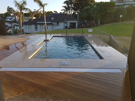 swimming pool tiling Auckland red Beach